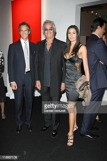 Luciano Benetton Flavio Briatore and Elisabetta Gregoraci