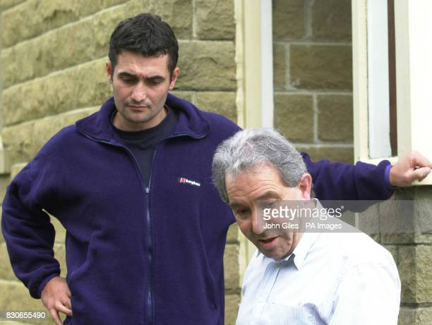 Luciano Falconio the father of Peter Falconio who is missing in Australia with one of his other sons Paul leaves his home near Huddersfield West...
