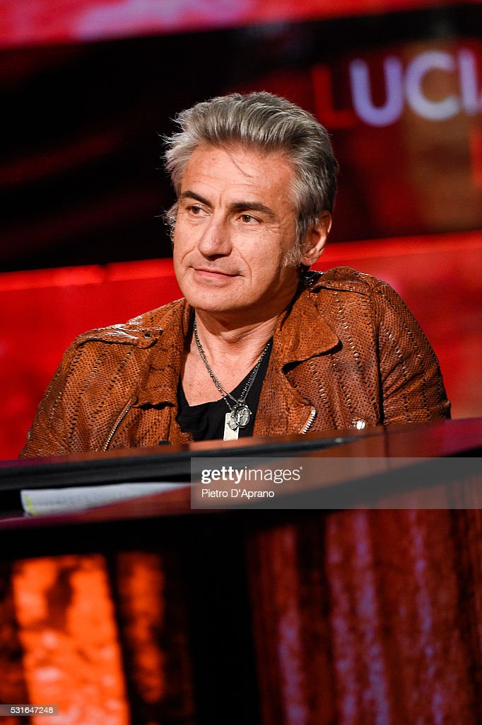 Luciano Ligabue attends 'Che Tempo Che Fa' Tv Show on May 15, 2016 in Milan, Italy.