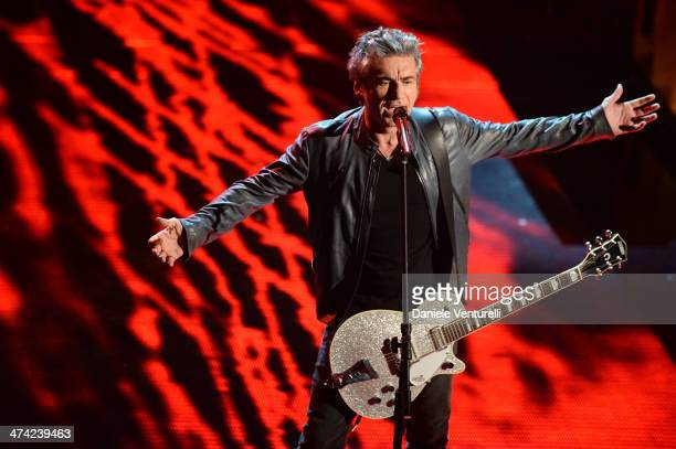 Luciano Ligabue attends closing night of the 64th Festival di Sanremo 2014 at Teatro Ariston on February 22 2014 in Sanremo Italy