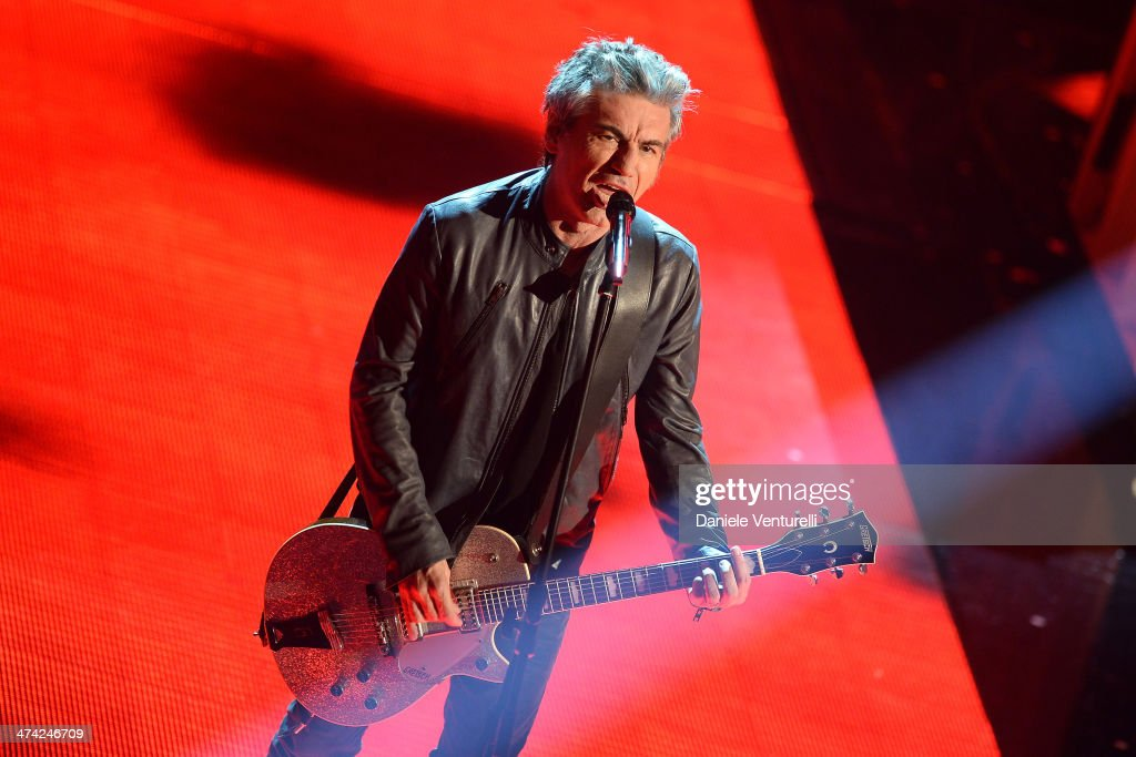 Luciano Ligabue attends closing night of the 64th Festival di Sanremo 2014 at Teatro Ariston on February 22, 2014 in Sanremo, Italy.