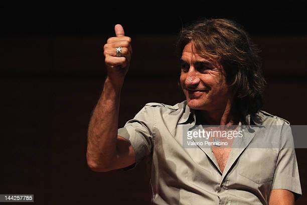 Luciano Ligabue attends ' Il rumore dei baci a vuoto' book presentation during the 2012 International Book Fair of Torino on May 12 2012 in Turin...
