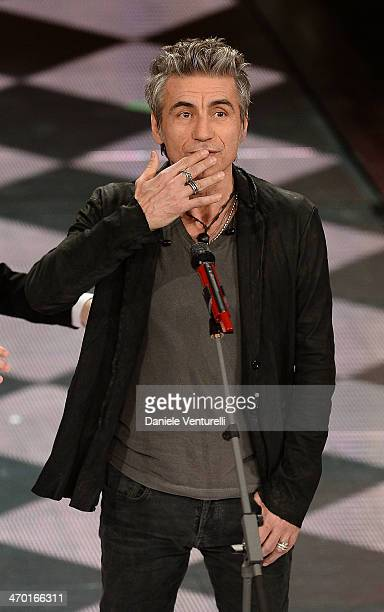 Luciano Ligabue attends the opening night of the 64th Festival di Sanremo 2014 at Teatro Ariston on February 18 2014 in Sanremo Italy