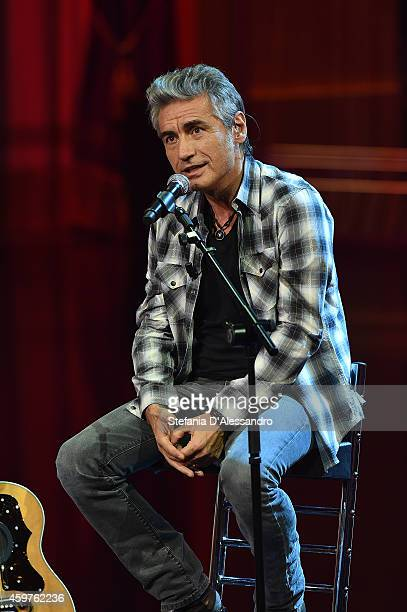 Luciano Ligabue performs at 'Che Tempo Che Fa' TV Show on November 30 2014 in Milan Italy