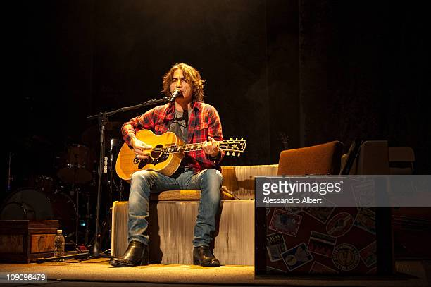 Luciano Ligabue performs at the Teatro Regio in Turin on February 13 2011 in Turin Italy