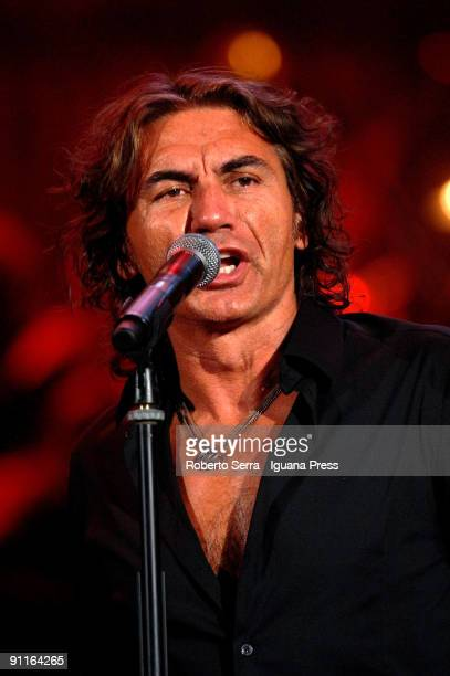 Luciano Ligabue performs with Arena's Simphony Orchestra at Arena di Verona on September 24 2009 in Verona Italy