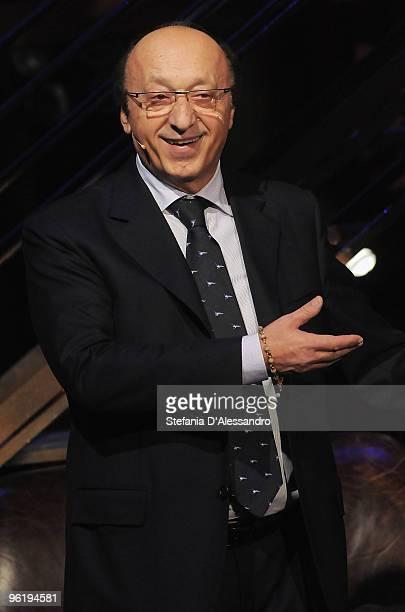 Luciano Moggi attends 'Chiambretti Night' Italian Tv Show on January 26 2010 in Milan Italy