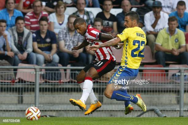 Luciano Narshingh of PSV Emidio Amado of Estoril Praia during the UEFA Europa League match between PSV and GD Estoril Praia on September 18 2014 at...