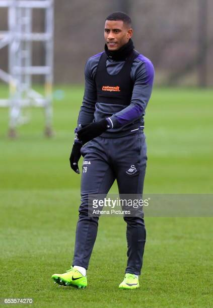 Luciano Narsingh in action during the Swansea City Training at The Fairwood Training Ground on March 15 2017 in Swansea Wales