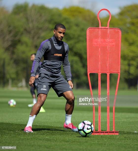 Luciano Narsingh in action during the Swansea City Training at The Fairwood Training Ground on May 2 2017 in Swansea Wales