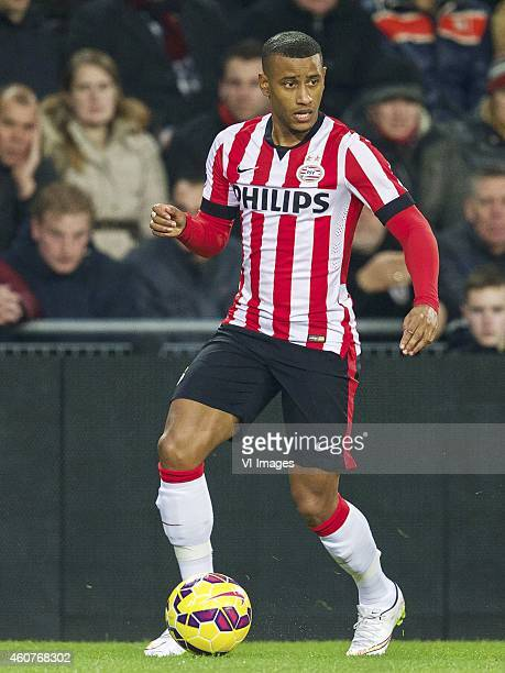 Luciano Narsingh of PSV during the Dutch Eredivisie match between PSV Eindhoven and Go Ahead Eagles at the Phillips stadium on December 20 2014 in...