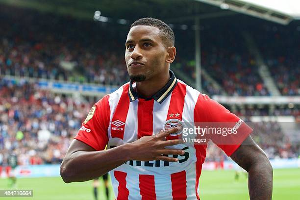 Luciano Narsingh of PSV during the Dutch Eredivisie match between PSV Eindhoven and FC Groningen at the Phillips stadium on August 16 2015 in...