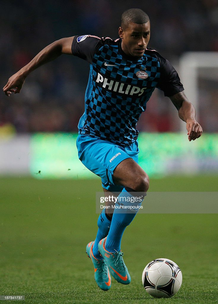 Luciano Narsingh of PSV in action during the Eredivisie match between Ajax Amsterdam and PSV Eindhoven at Amsterdam Arena on December 1, 2012 in Amsterdam, Netherlands.
