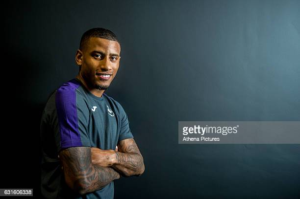Luciano Narsingh of Swansea City at The Landore Training Ground on January 12 2017 in Swansea Wales