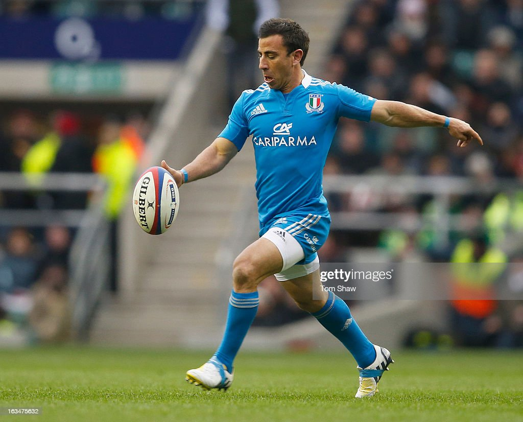 <a gi-track='captionPersonalityLinkClicked' href=/galleries/search?phrase=Luciano+Orquera&family=editorial&specificpeople=236091 ng-click='$event.stopPropagation()'>Luciano Orquera</a> of Italy in action during the RBS Six Nations match England and Italy at Twickenham Stadium on March 10, 2013 in London, England.