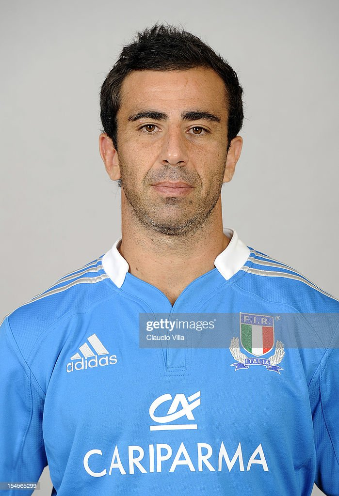 <a gi-track='captionPersonalityLinkClicked' href=/galleries/search?phrase=Luciano+Orquera&family=editorial&specificpeople=236091 ng-click='$event.stopPropagation()'>Luciano Orquera</a> poses during a Italy Rugby Union player portrait session on October 22, 2012 in Rome, Italy.