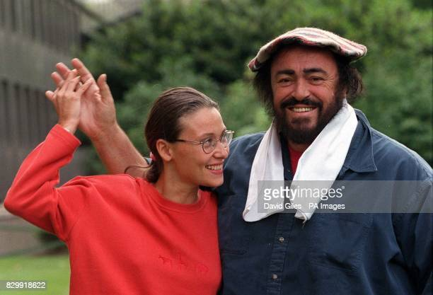 Luciano Pavarotti arrives in London today with his girlfriend Nicoletta Mantovani before the Tenor's recital at the Royal Opera House Covent Garden...