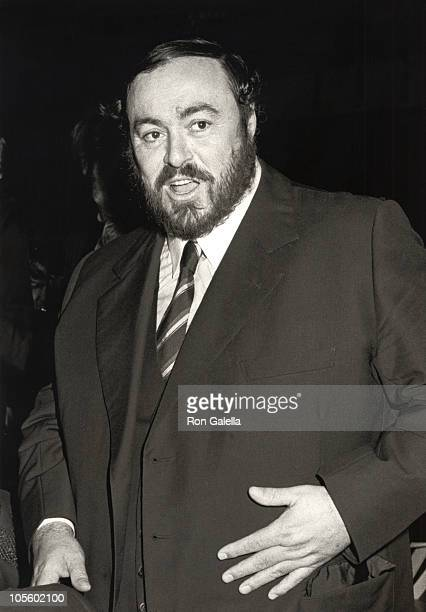 Luciano Pavarotti during Benefit Fundraiser for the Staute of Liberty at Lincoln Center in New York City New York United States