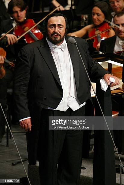 Luciano Pavarotti during Luciano Pavarotti Concert to Benefit the World Food Program at Grimaldi Forum in MonteCarlo Monaco