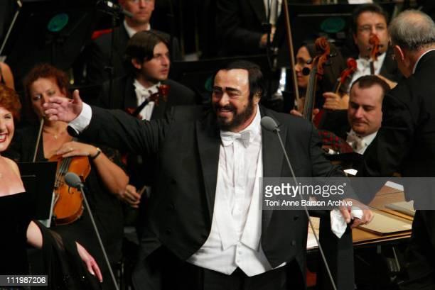 Luciano Pavarotti during Luciano Pavarotti Concert to Benefit the World Food Program at Grimaldi Forum in MonteCarlo Monaco