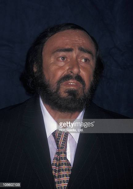 Luciano Pavarotti during The Three Tenors Recieve the Albert Schweitzer Music Award at The Metropolitan Club in New York City New York United States