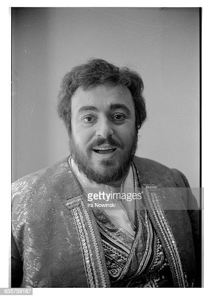Luciano Pavarotti performs in the opera La Gioconda as Enzo Grimaldo He waits in his dressing room for his entrance Composer Amilcare Ponchielli