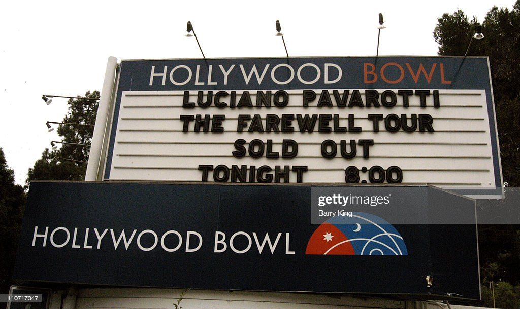 The Farewell Tour - Sign at the Hollywood Bowl in Hollywood, California