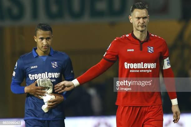 Luciano Slagveer of Heerenveen Erwin Mulder of Heerenveenduring the Dutch Eredivisie match between Heracles Almelo and sc Heerenveen at Polman...