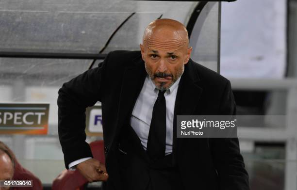 Luciano Spalletti during the Europe League football match AS Roma vs Olympique Lyonnais at the Olympic Stadium in Rome on march 16 2017