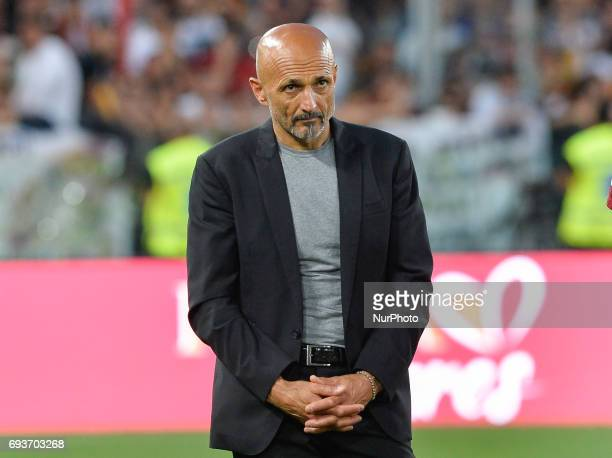 Luciano Spalletti during the Italian Serie A football match between AS Roma and FC Genoa at the Olympic Stadium in Rome on may 28 2017