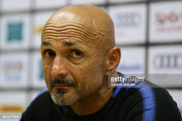 Luciano Spalletti manager of FC internazionale speaks during the post match conference after the International Champions Cup match between FC...