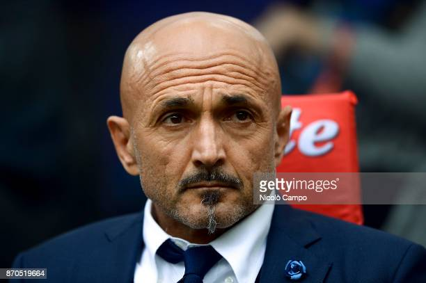 Luciano Spalletti of FC Internazionale looks on prior to the Serie A football match between FC Internazionale and Torino FC The match ended in a 11...
