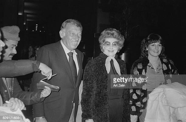 Lucie Arnaz Lucille Ball and Gary Morton arriving at an event circa 1970 New York