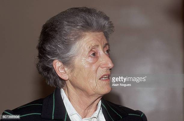 Lucie Aubrac wife of French Resistance leader Raymond Aubrac during her husband's 1991 trial after being accused of betraying Jean Moulin The charges...