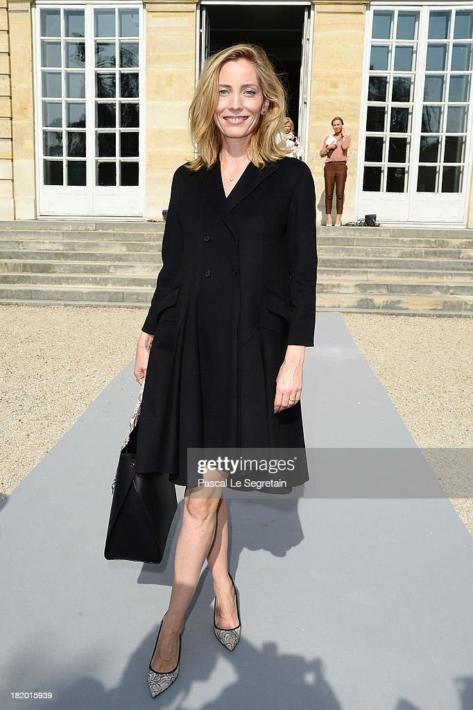 Lucie de la Falaise arrives at the Christian Dior show as part of the Paris Fashion Week Womenswear Spring/Summer 2014 at Musee Rodin on September 27, 2013 in Paris, France.