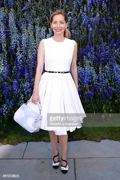 Lucie de la Falaise attends the Christian Dior show as part of the Paris Fashion Week Womenswear Spring/Summer 2016 Held at Cour Carre du Louvre on...