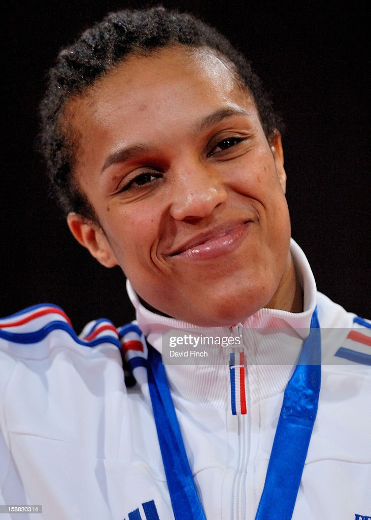 Lucie Decosse of France, who later won gold and silver Olympic medals, won the gold medal in the u63kgs category at the Paris Tournament on day 1, Saturday, February 09, 2008 at the Palais Omnisports de Paris Bercy Sports Arena, Bercy, Paris, France.