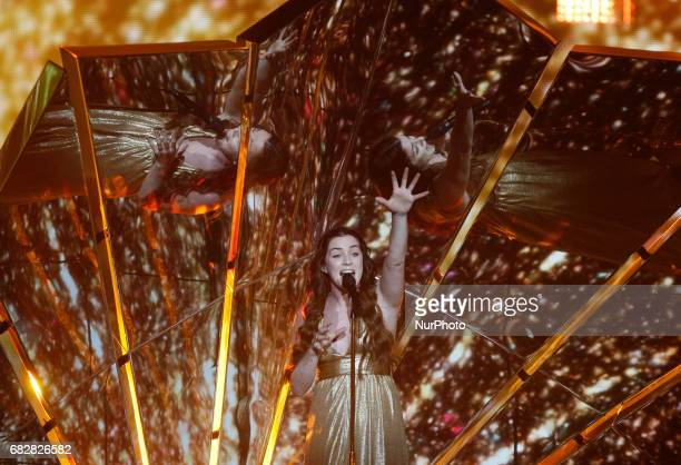 Lucie Jones of the United Kingdom performs her song quotNever give up on youquotduring the Grand Final of the Eurovision Song Contest in Kiev Ukraine...