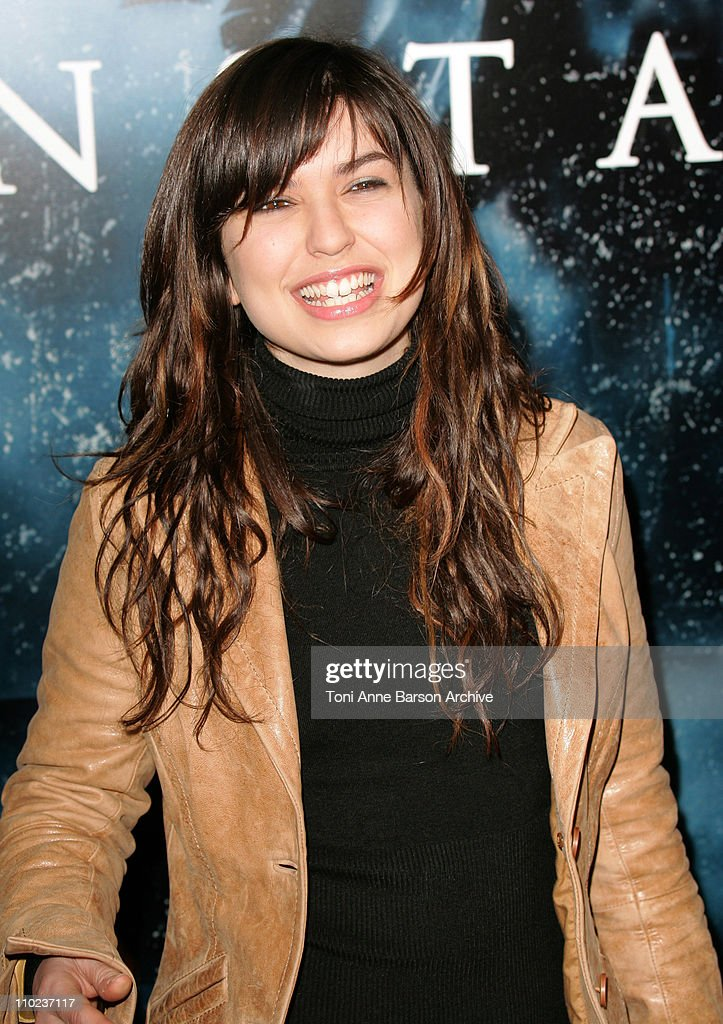 Lucie of Star Academy 4 during 'Constantine' Paris Premiere at Gaumont Grand Ecrann in Paris France