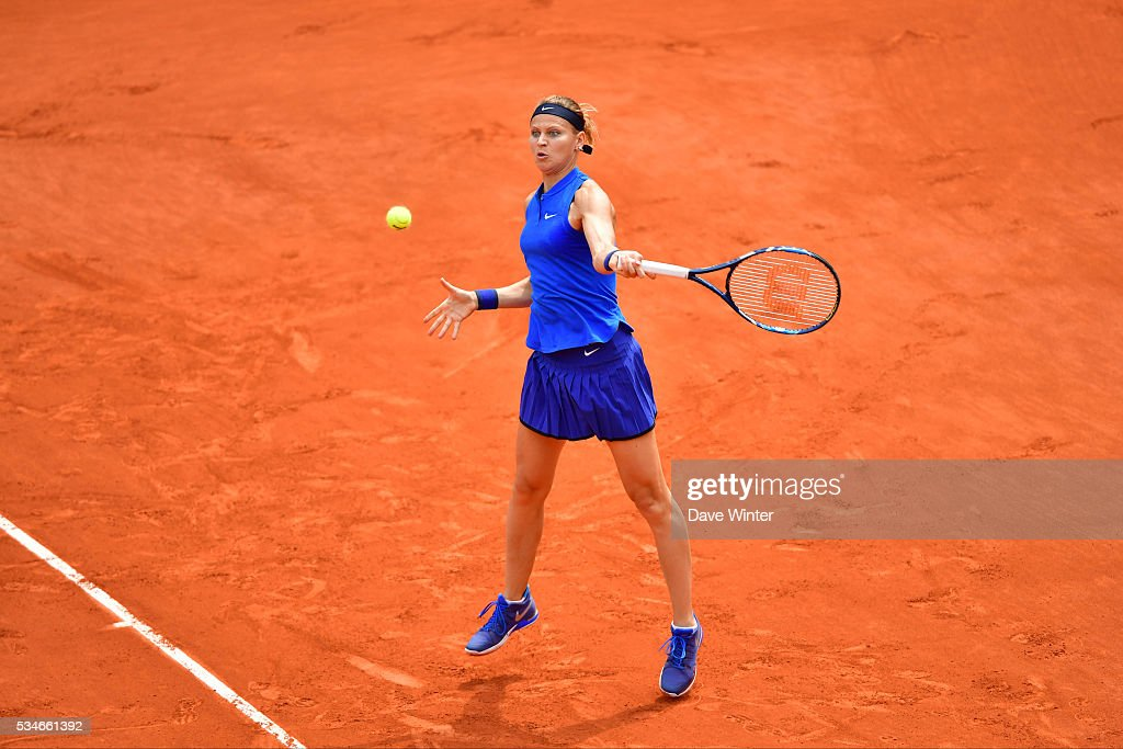 Lucie Safarova during the Women's Singles third round on day six of the French Open 2016 at Roland Garros on May 27, 2016 in Paris, France.