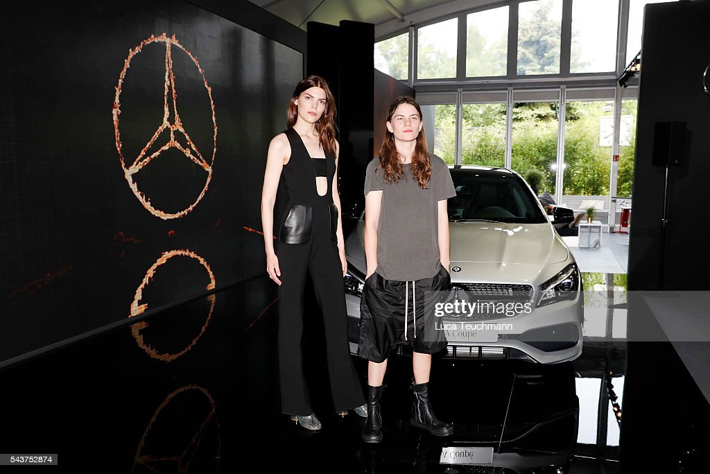 Lucie Von Alten (L) and Eliot Paulina Sumner, daughter of singer Sting, attend the Mercedes-Benz Fashion Talk during the Mercedes-Benz Fashion Week Berlin Spring/Summer 2017 at Erika Hess Eisstadion on June 30, 2016 in Berlin, Germany.