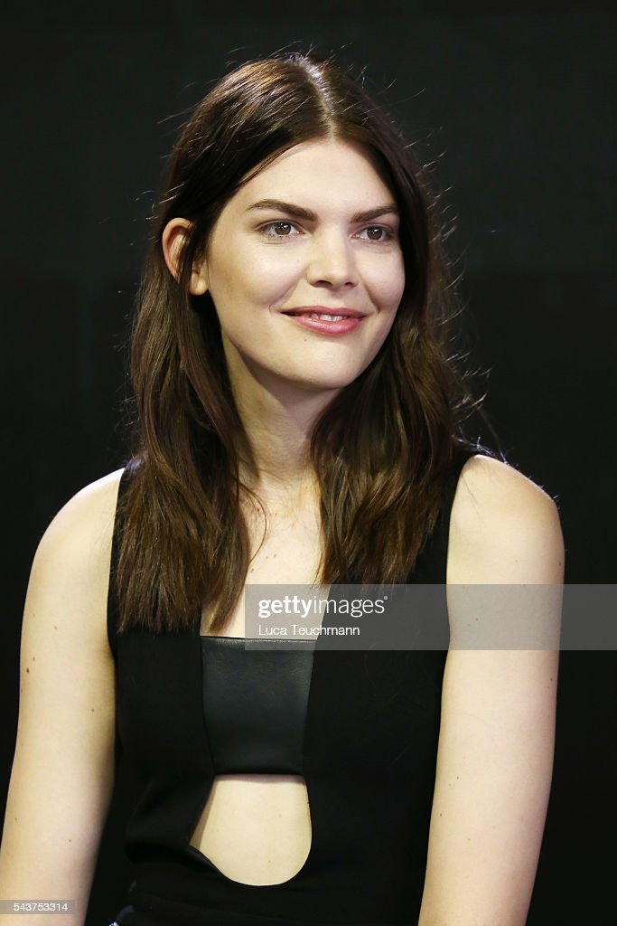 Lucie Von Alten attends the Mercedes-Benz Fashion Talk during the Mercedes-Benz Fashion Week Berlin Spring/Summer 2017 at Erika Hess Eisstadion on June 30, 2016 in Berlin, Germany.