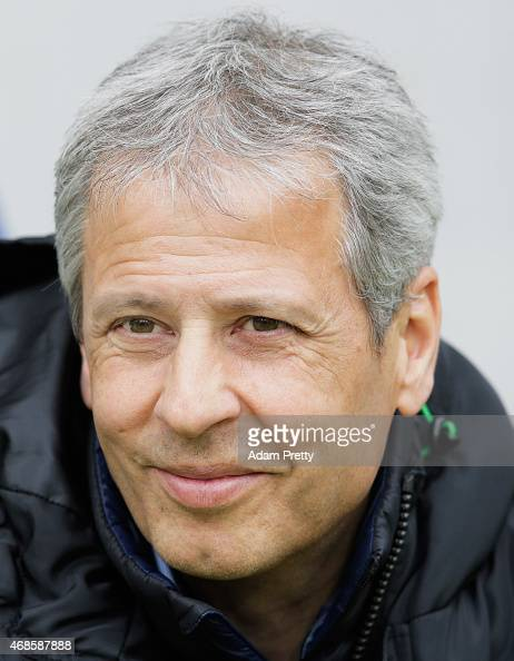Lucien Favre Head Coach of Borussia Moenchengladbach before the Bundesliga match between 1899 Hoffenheim and Borussia Moenchengladbach at Wirsol...