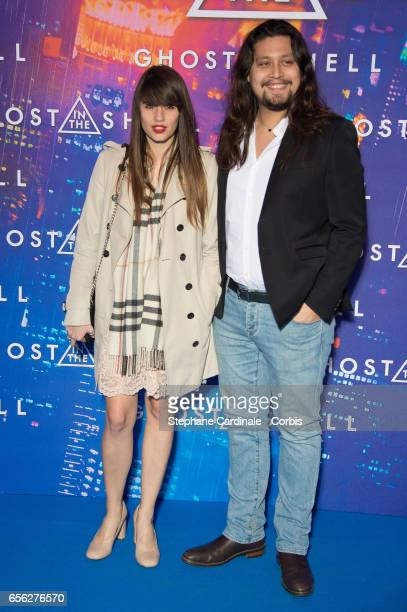 Lucien Gainsbourg and his companion attend the Paris Premiere of the Paramount Pictures release 'Ghost In The Shell' at Le Grand Rex on March 21 2017...