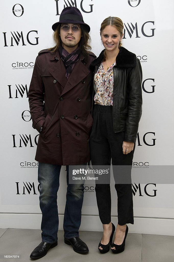 Lucien Gainsbourg (L) attends the IMG Models 'Be Conscious It's Happening' party at The Network Building on February 18, 2013 in London, England.