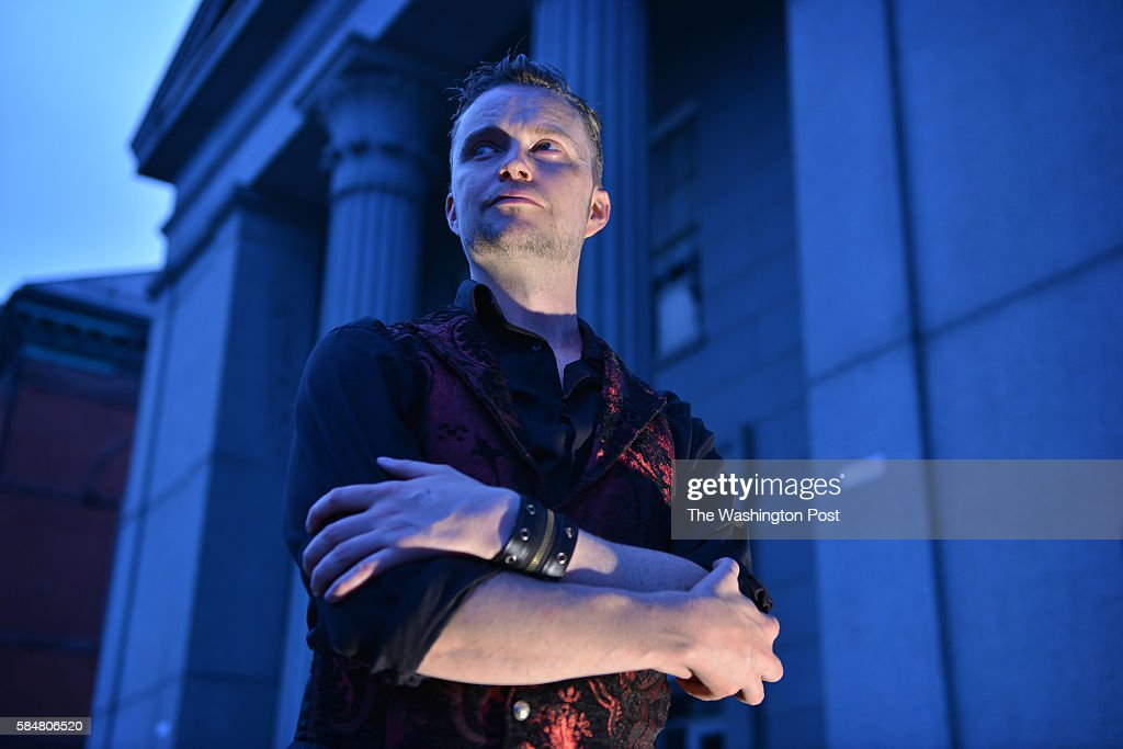 Lucien Greaves is spokesman for The Satanic Temple photographed outside a Salem courthouse a group of political activists who identify themselves as...