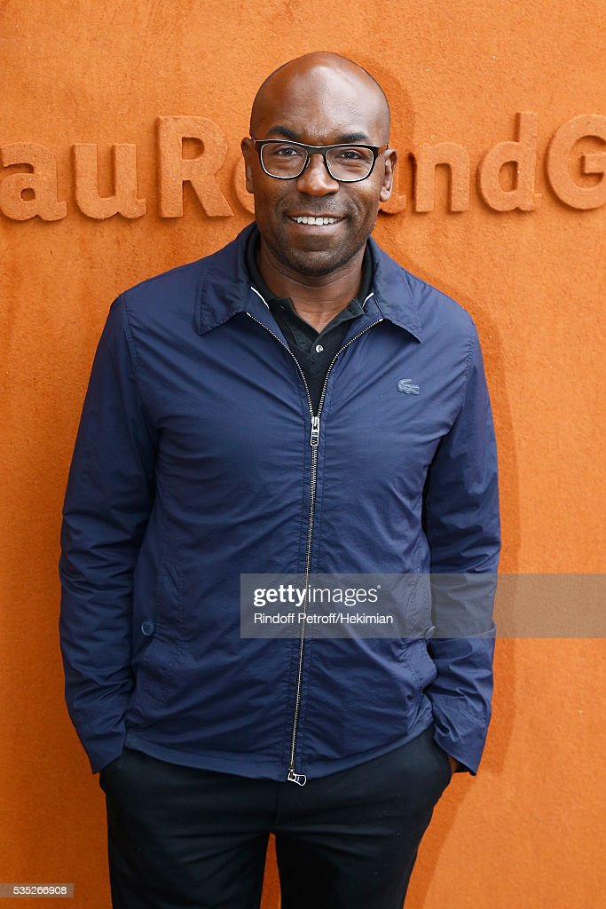 Lucien Jean Baptiste attends the French Tennis Open Day 8 at Roland Garros on May 29, 2016 in Paris, France.