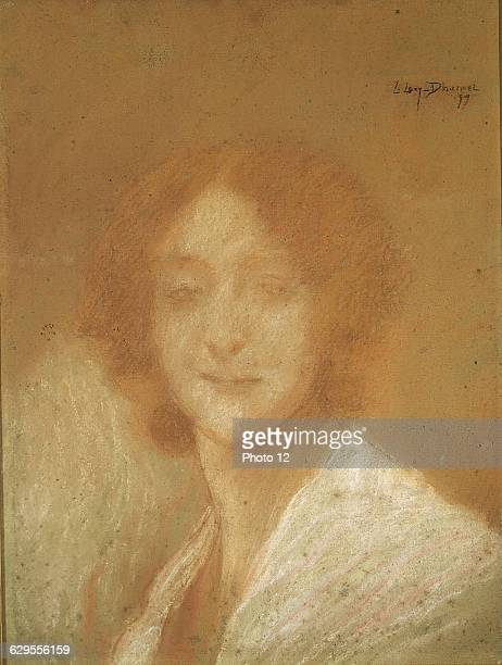 Lucien LevyDhurmerFrench schoolWoman with the smile of Mona Lisa 1899PastelPrivate collection
