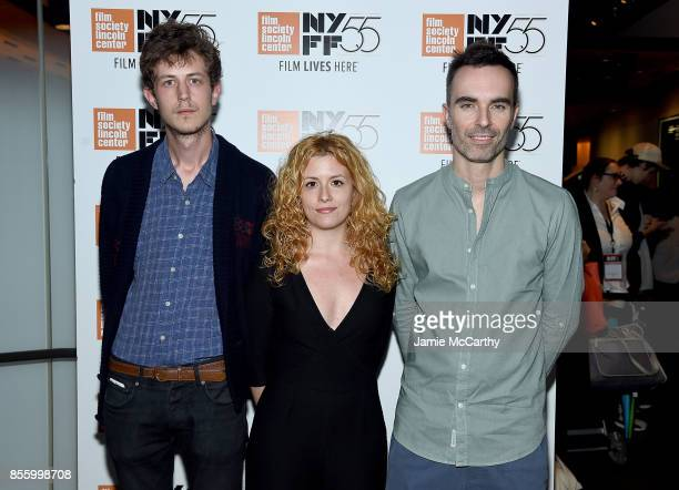 Lucien Monot Laura Ferres and Xavier Marrades attend the 55th New York Film Festival Shorts Program 4 Documentary at Francesca Beale Theater on...