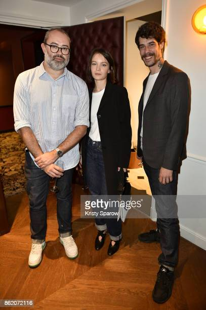 Lucien Pages Diane Rouxel and Leo Fauvel attend the Surface Magazine Fall Fashion Issue 2017 Presentation on October 16 2017 in Paris France